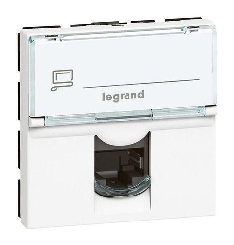 Розетка 1xRJ45 Cat.5 Legrand MOSAIC, белый